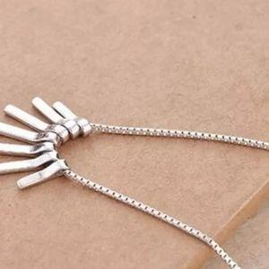 🆕 .925 Silver Tassel Necklace